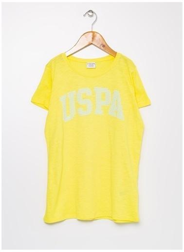 U.S. Polo Assn. U.S. Polo Assn. Sarı Kız Çocuk T-Shirt Sarı